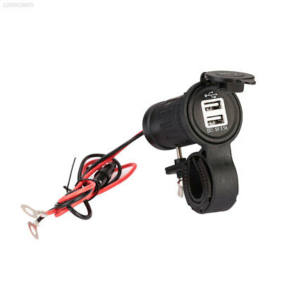 9A35 12 24V Motorcycles Car Outlet Socket Waterproof Dual USB Charger Adapter