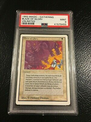 1993 MTG Magic the Gathering BLAZE OF GLORY Unlimited Edition PSA 9 MINT