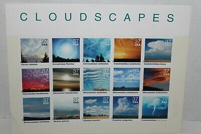 1 Sheet~2004~CLOUDSCAPES~37 Cents~15 Stamps~UNUSED
