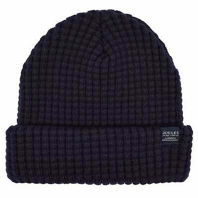 Joules Bamburgh Cable Knit Mens Headwear Hat - Midnight One Size
