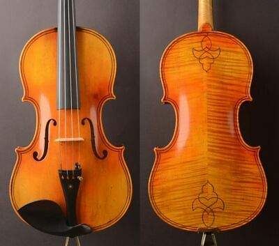 "German oil antique!A Strad model  Viola 16"" Best tone"