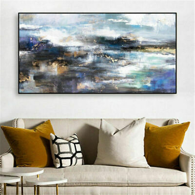 """Large Modern Simple abstract oil painting Hand-painted No Frame 24x48"""""""
