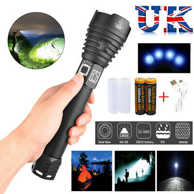 Super Bright XHP90 XHP70.2 Most Powerful LED Flashlight USB Zoom Torch UK STORE