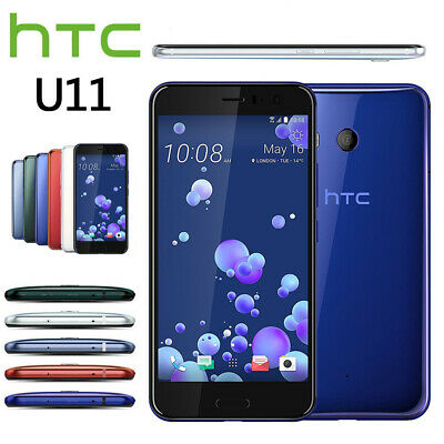 Factory Unlocked Android Smartphone HTC U11 Black Silver White Blue Red 64GB NEW