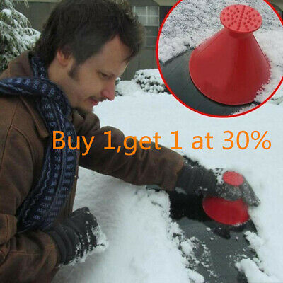 Magical Car Windshield Ice Snow Remover Scraper Cone Shaped Round Funnel*Tools*L