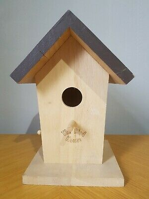 Wooden Decoration 23cm Bird House