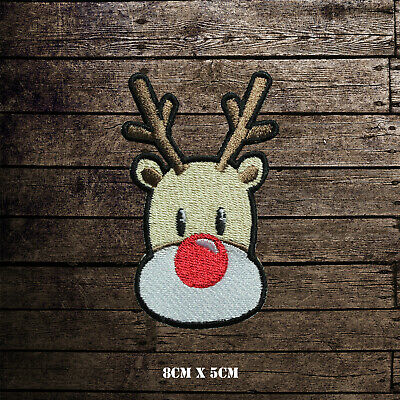 Reindeer Cute Animal Christmas Iron Sew on Embroidered Patch applique #1807
