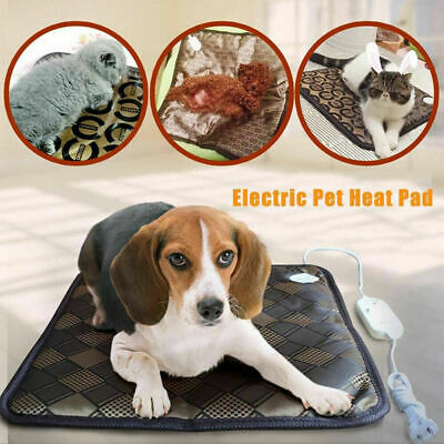 Adjustable Heating Pad For Dog Cat Puppy Pet Electric Warm Mat Bed Waterproof