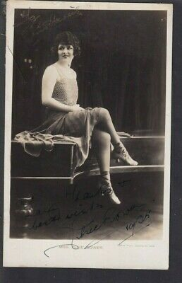 Theatre Film Actress Elsie Bower (Piccadilly Nights) 1925  Autographed Photo