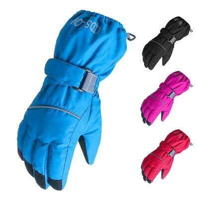 Children's Five Fingers Riding Ski Gloves Waterproof Windproof Winter Warm
