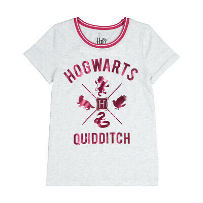 Harry Potter Hogwarts Quidditch Girls tee t shirt top New Free postage