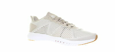 Reebok Mens Flexagon Light Sand/White/Neon Red Cross Training Shoes Size 10