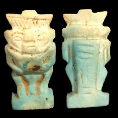Beautiful Ancient Egyptian God Bes Amulet 300 Bc (10)