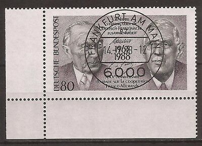 1988 German-French Co-operation very fine used, Michel 1351