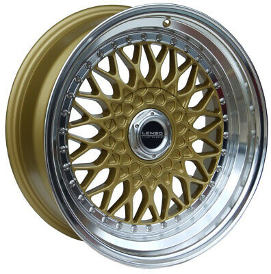 """Alloy Wheels 15"""" Lenso BSX Gold For Fiat Idea 04-12"""
