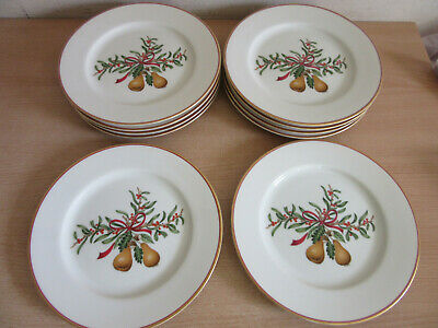 2 Royal Gallery QUEENSBERRY Christmas Salad Plates NEW W//LABEL 1991