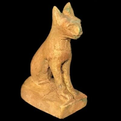 Egyptian Cat Statue, Late Period 664 - 332 Bc (4)