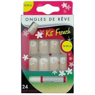 Faux Ongles Avec Colle - Tropical N 19 - Miss Miss