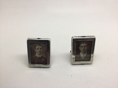 Sterling Silver Antique Photo Frames Pair 1911-12