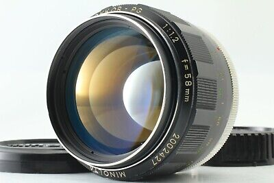 【EXC+++++】 Minolta MC ROKKOR-PG 58mm f/1.2 MF Lens for MD Mount From JAPAN #169