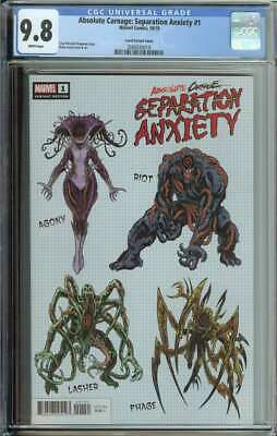 Absolute Carnage Separation Anxiety #1 CGC 9.8 Level Design Variant Cover