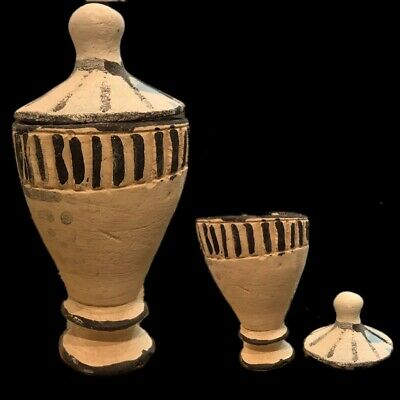 Very Rare Large Ancient Egyptian Storage Jar Vessel Late Period 664 - 332 Bc (2)