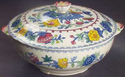 Mason's REGENCY PLANTATION COLONIAL Round Covered Vegetable Bowl 5531108