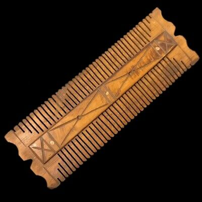 ANCIENT VERY RARE ROMAN PERIOD DECORATED HAIR COMB 2nd-3rd Cent AD (2)