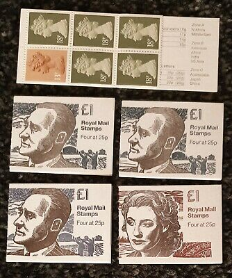 5 MINT Stamps Booklets with Contents £1 Booklets