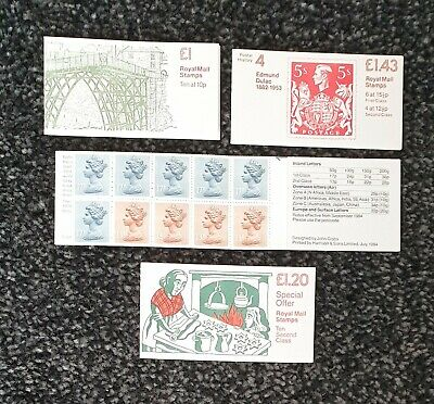 4 MINT Stamps Booklets with Contents £1.54 Booklet £1.43, £1.20 and £1