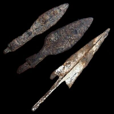 RARE ANCIENT VIKING BRONZE ARROW GROUP 9-10th CENTURY AD (7)