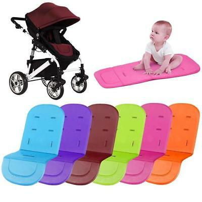 Solid Color Pushchair Seat Liner Baby Stroller Cushion Pad Thickened Mat W