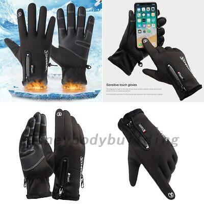 Driving Gloves Cycling Cold Weather Fleece Lined Windproof Water Resistant Warm