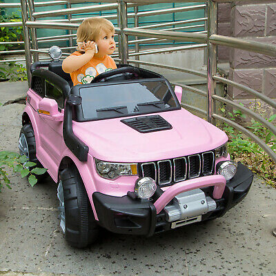 12V Battery Powered Electric Ride On Jeep w/ Remote Control Toy Car for Kids Red