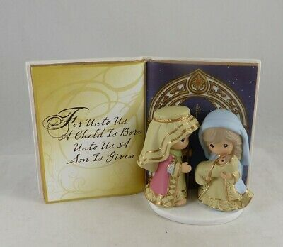 151408 Precious Moments Holy Family Table Top Book Figurine