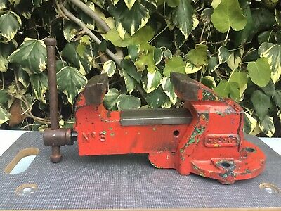 "Record No 3 Engineers Bench Vice 4"" Jaws Opening To 5"" 1960-80 Ex School Vintage"
