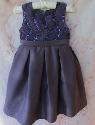 Purple Sequin Embellished Party Occasion Dress By Sugar Plum 5-6 Years