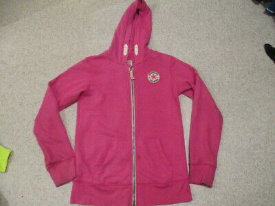 Converse All Star pink zipped hoodie top children 12 - 13 year size