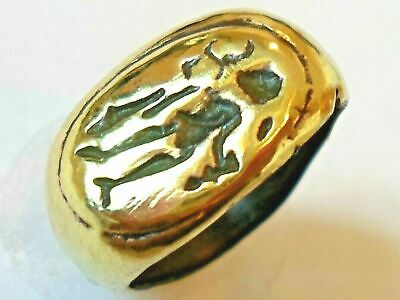 X-Mas Gift,Detector Find&Polished,200-400 A.d Roman Genius(Attendant Spirit)Ring