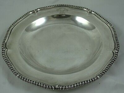 VICTORIAN silver SOUP PLATE, 1856, 556gm