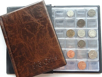 Coin album My Coins 192 coins ( perfect for small coins 3p,6p and other) brown 1