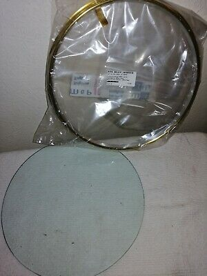 New & Unused, 12 inch Brass Bezel, With Glass.