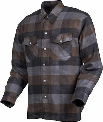 Covert Moto Flannel Black/Brown/Grey Medium Scorpion 13603-4