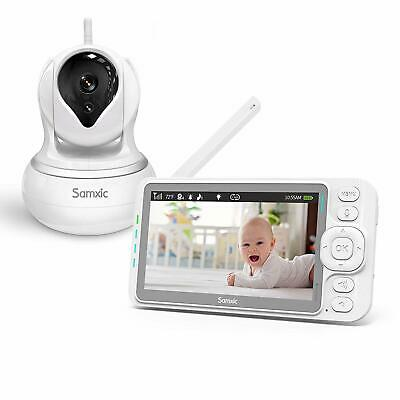 Samxic Video Baby Monitor with 5 Inch Display, 720P HD Resolution, Remote Pan