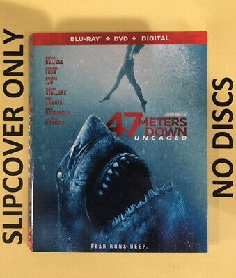 47 Meters Down Uncaged (2019) - Blu-ray Slipcover ONLY - NO DISCS