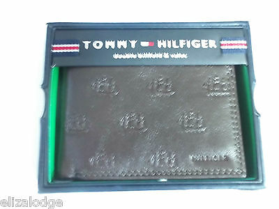 Tommy Hilfiger Leather Bifold Wallet Brown (ships)