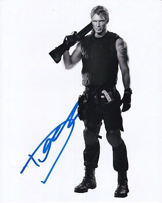Dolph Lundgren Signed Autographed 8x10 The Expendables Gunner Photograph