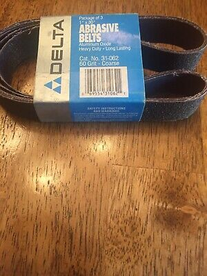 Delta Abrasive Belts Cat. No. 31-062 60 Grit Coarse