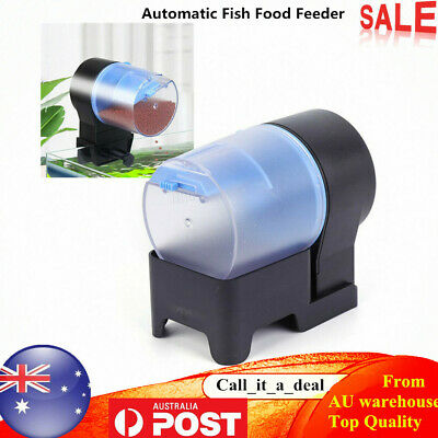 Automatic Fish Food Feeder Dispenser Aquarium Tank Pond Tank Auto Fedd Timer NEW