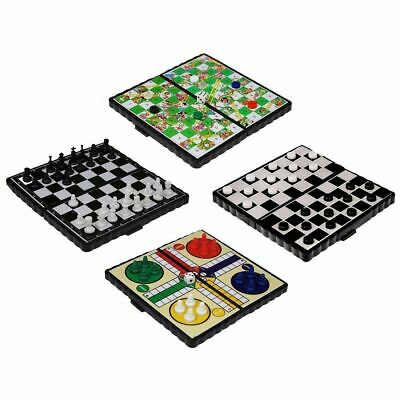 Mini Magnetic Travel Board Games - Chess , Ludo , Snakes and Ladders,  Draughts